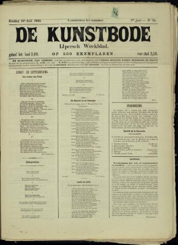De Kunstbode (1880 - 1883) 1881-07-10