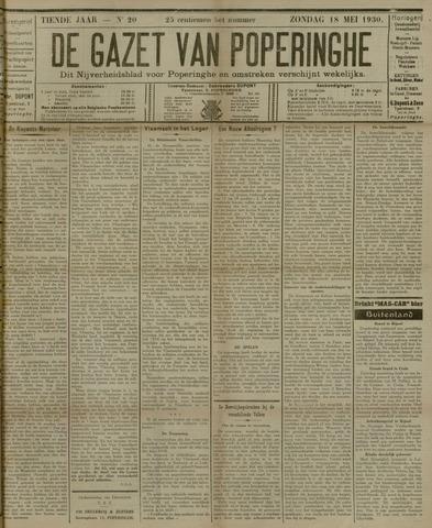 De Gazet van Poperinghe  (1921-1940) 1930-05-18