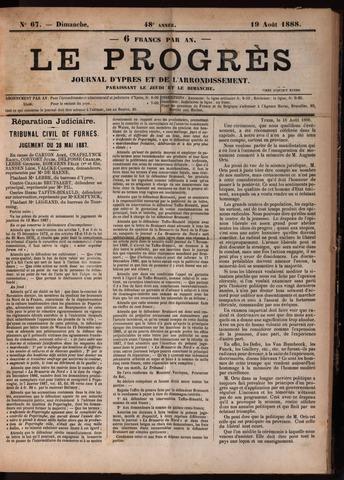 Le Progrès (1841-1914) 1888-08-19