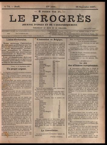 Le Progrès (1841-1914) 1897-09-16