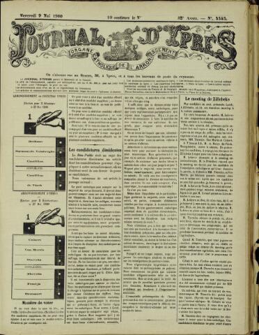 Journal d'Ypres (1874 - 1913) 1900-05-09