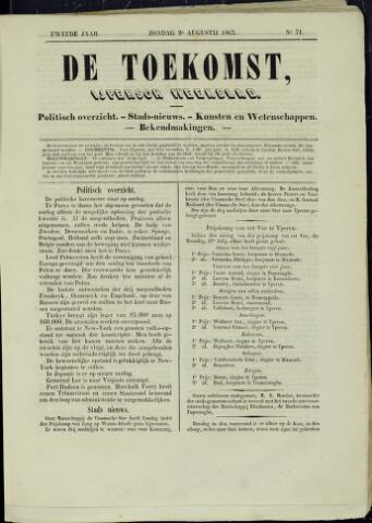 De Toekomst (1862 - 1894) 1863-08-02