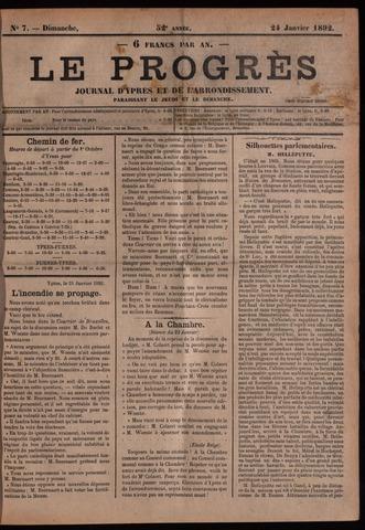 Le Progrès (1841-1914) 1892-01-24