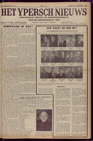 Het Ypersch nieuws (1929-1971) 1967-08-25