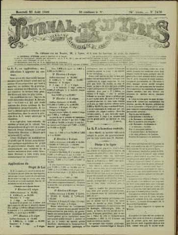Journal d'Ypres (1874 - 1913) 1899-08-23