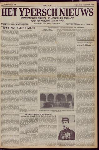 Het Ypersch nieuws (1929-1971) 1968-08-30