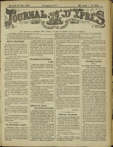 Journal d'Ypres (1874 - 1913) 1898-06-22