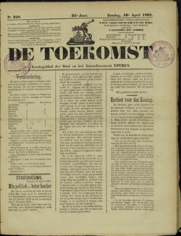 De Toekomst (1862 - 1894) 1892-04-10
