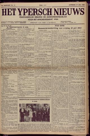 Het Ypersch nieuws (1929-1971) 1963-07-27