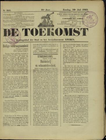 De Toekomst (1862 - 1894) 1892-07-10