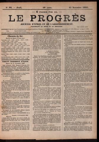 Le Progrès (1841-1914) 1888-11-15