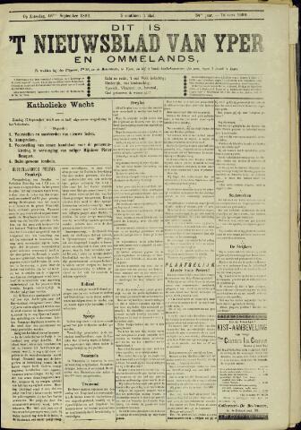 Nieuwsblad van Yperen en van het Arrondissement (1872 - 1912) 1899-09-16