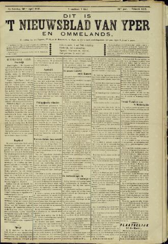 Nieuwsblad van Yperen en van het Arrondissement (1872 - 1912) 1899-04-29