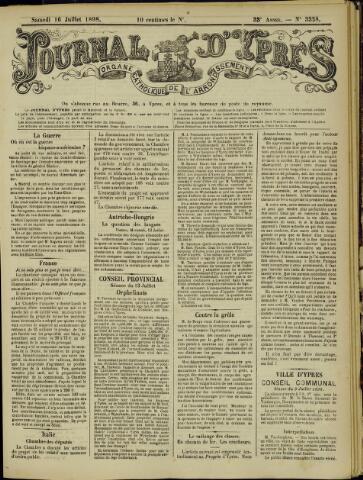 Journal d'Ypres (1874 - 1913) 1898-07-16