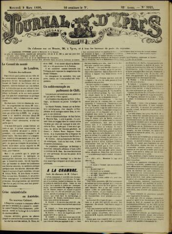Journal d'Ypres (1874 - 1913) 1898-03-09