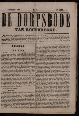 De Dorpsbode van Rousbrugge (1856-1857 en 1860-1862) 1857-08-04