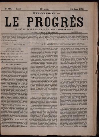Le Progrès (1841-1914) 1880-03-18