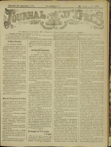 Journal d'Ypres (1874 - 1913) 1898-09-28