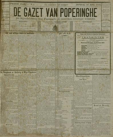 De Gazet van Poperinghe  (1921-1940) 1922-07-30