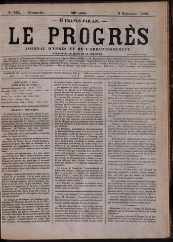 Le Progrès (1841-1914) 1880-09-05