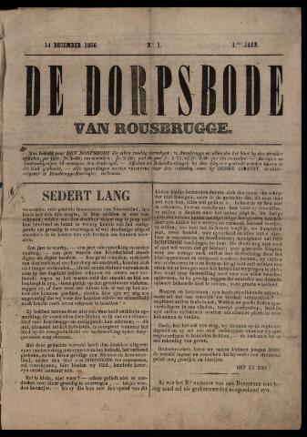 De Dorpsbode van Rousbrugge (1856-1857 en 1860-1862) 1856-12-14