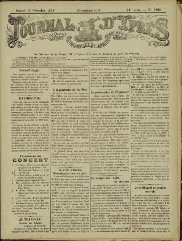 Journal d'Ypres (1874 - 1913) 1900-12-15