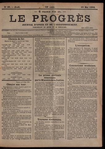 Le Progrès (1841-1914) 1892-05-19