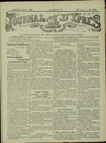 Journal d'Ypres (1874 - 1913) 1900-01-20