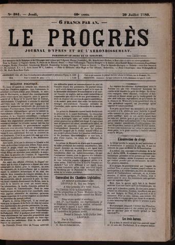 Le Progrès (1841-1914) 1880-07-29