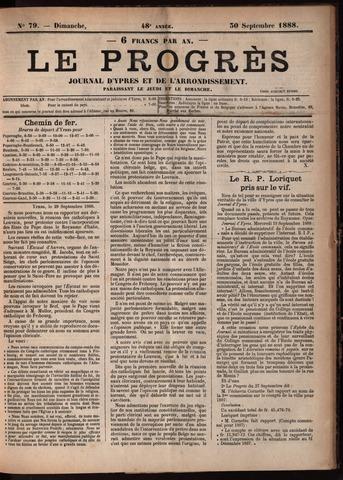 Le Progrès (1841-1914) 1888-09-30