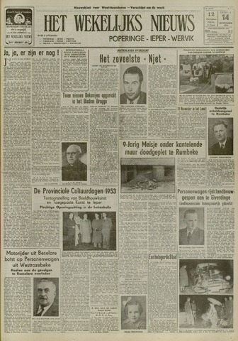 Het Wekelijks Nieuws (1946-1990) 1953-11-14