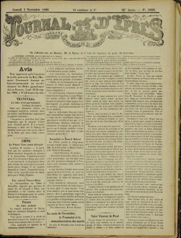 Journal d'Ypres (1874 - 1913) 1900-11-03