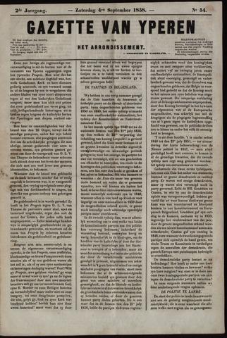 Gazette van Yperen (1857-1862) 1858-09-04