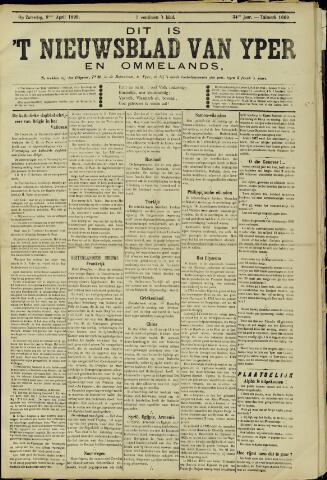 Nieuwsblad van Yperen en van het Arrondissement (1872 - 1912) 1899-04-08