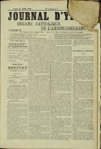 Journal d'Ypres (1874 - 1913) 1906-07-21