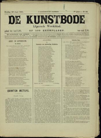 De Kunstbode (1880 - 1883) 1881-06-26