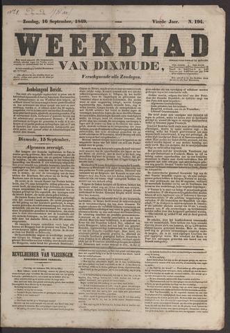 Weekblad van Dixmude 1849