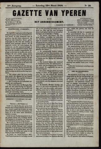 Gazette van Yperen (1857-1862) 1858-03-13