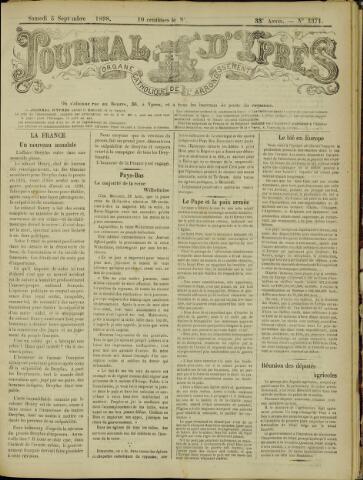Journal d'Ypres (1874 - 1913) 1898-09-03