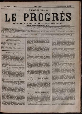 Le Progrès (1841-1914) 1880-09-16