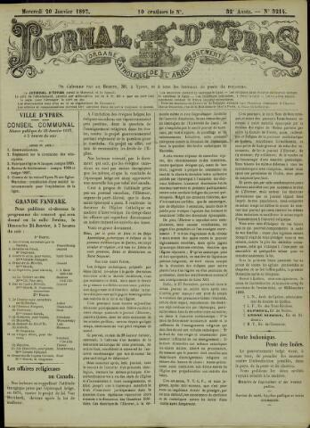 Journal d'Ypres (1874 - 1913) 1897-01-20