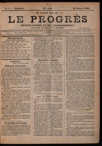 Le Progrès (1841-1914) 1888-01-22