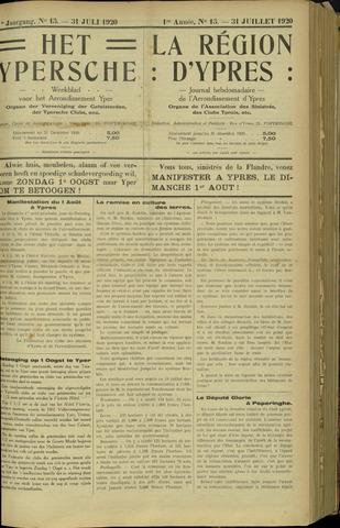 Het Ypersche (1925 - 1929) 1920-07-31
