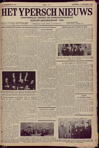 Het Ypersch nieuws (1929-1971) 1963-11-02