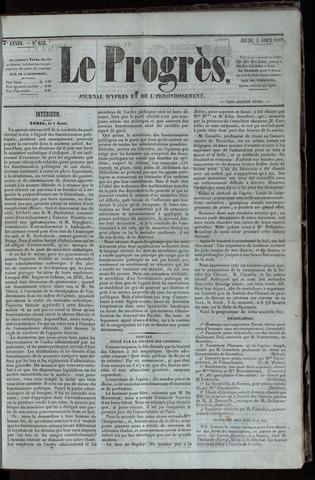 Le Progrès (1841-1914) 1847-08-05