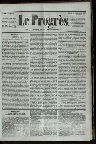 Le Progrès (1841-1914) 1847-09-23