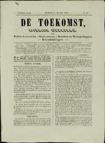 De Toekomst (1862 - 1894) 1863-03-15