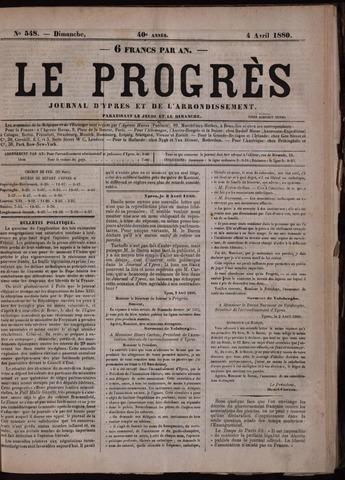 Le Progrès (1841-1914) 1880-04-04