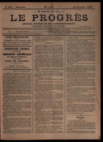 Le Progrès (1841-1914) 1892-12-18