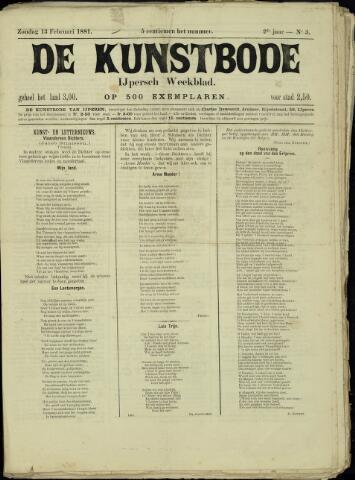 De Kunstbode (1880 - 1883) 1881-02-13